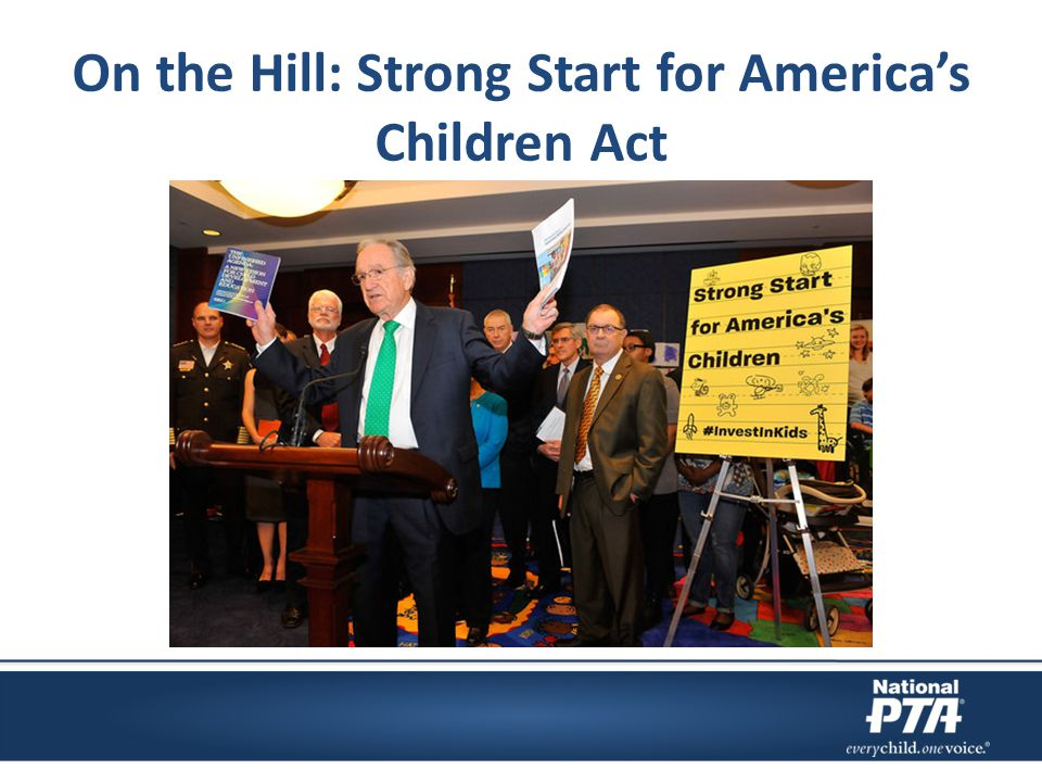 On the Hill: Strong Start for America's Children Act