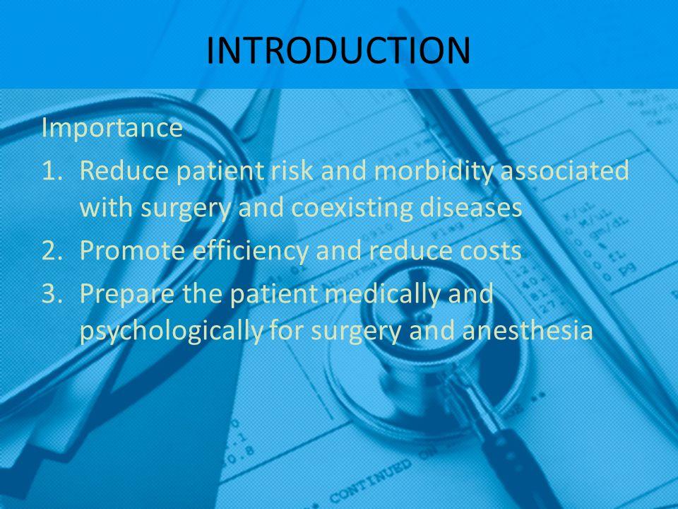 ASA basic standards for preanesthetic care 1.Determining the pt.
