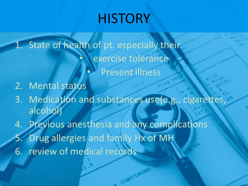 SPECIFIC AREAS IN Hx CNS  Strokes - seizures CVS  Angina - old MI – HTN – rheumatic fever – claudication – arrhythmias PULMONARY  SOB – cough/sputum – asthma – smoking – recent UTI – pneumonia GI  GERD – alcohol – hepatitis