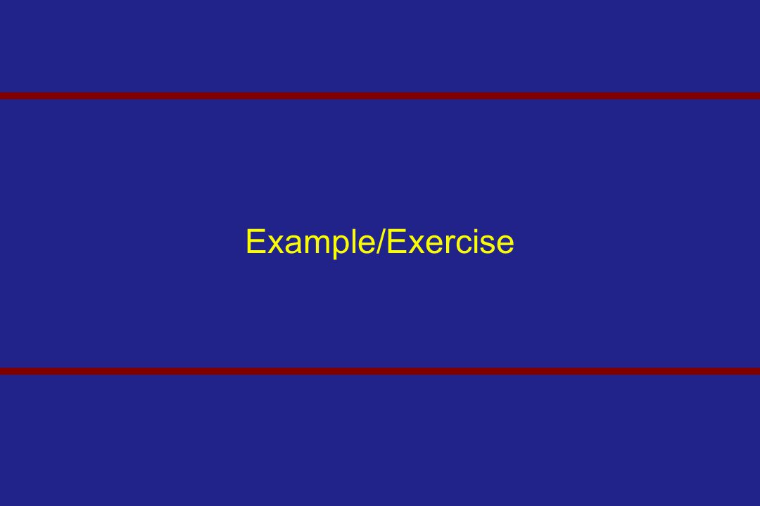 Example/Exercise