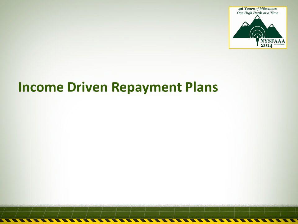 Income Driven Repayment Plans