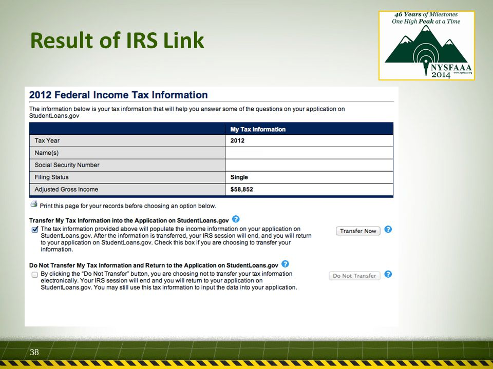Result of IRS Link 38