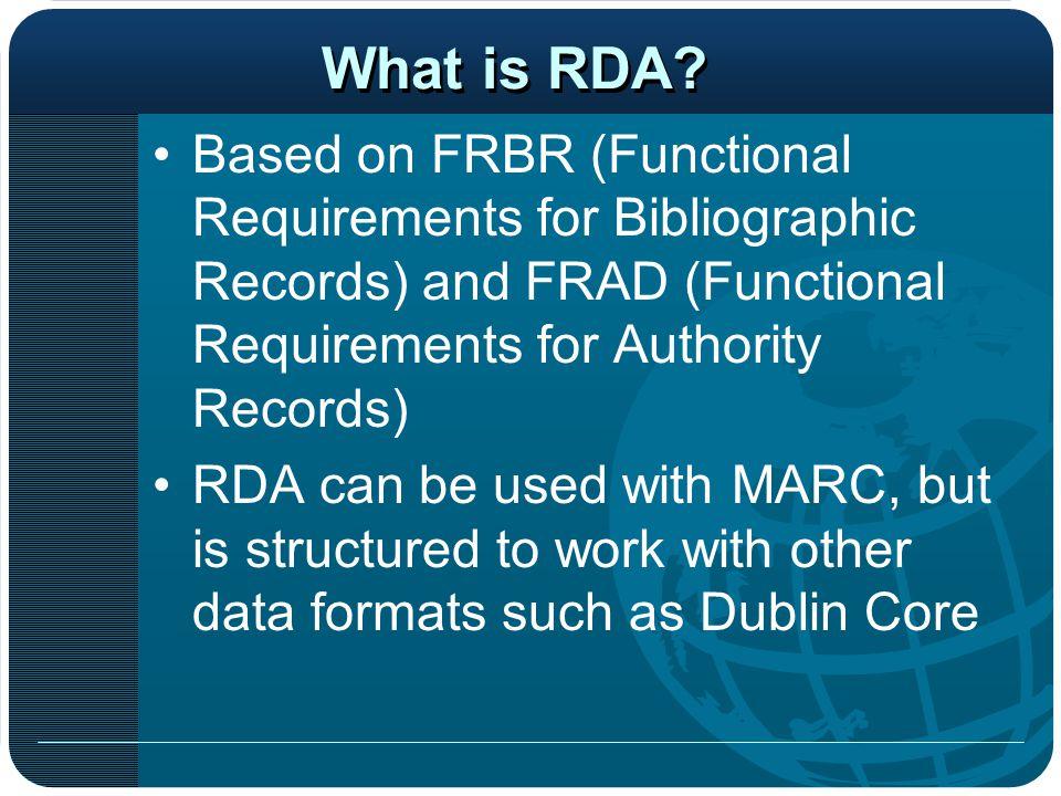 Why RDA.