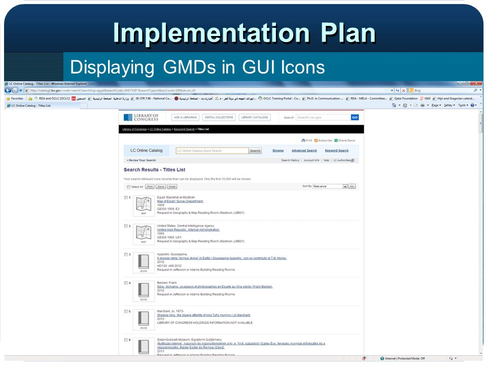 Implementation Plan Displaying GMDs in GUI Icons