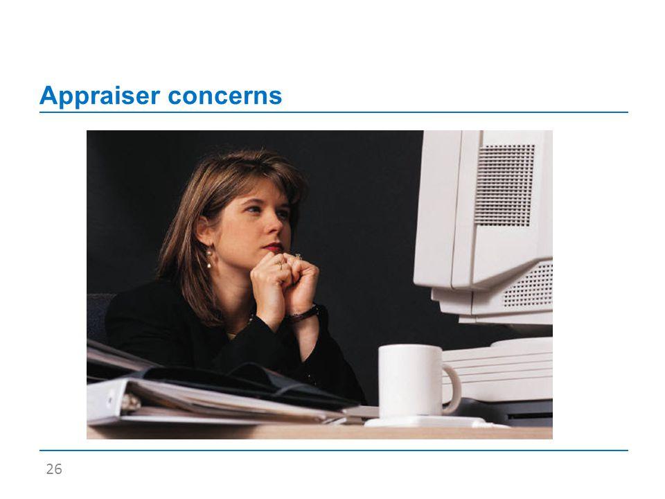 Appraiser concerns 26