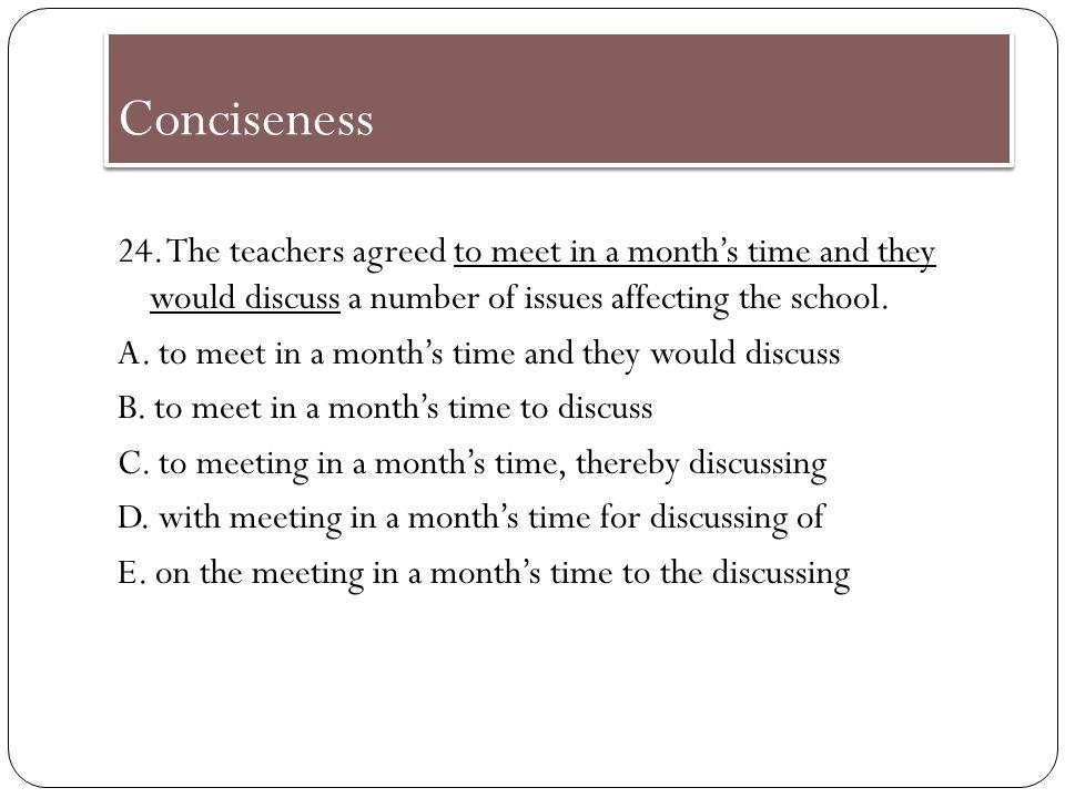 Conciseness 23.