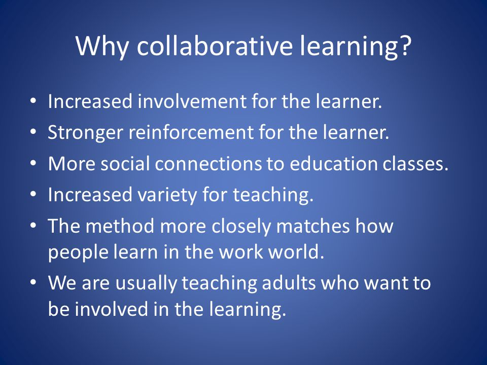 Experiencing learning Being involved in the learning provides stronger memory and more paths to recall and use the information.