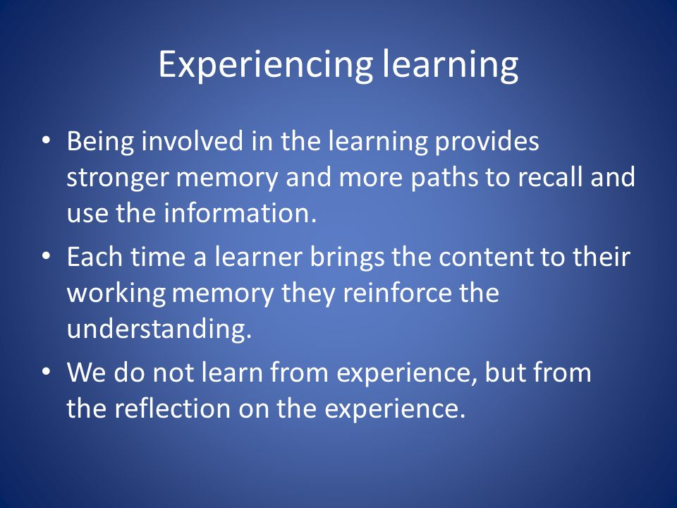Social experience from learning Members that interact with each will often form a stronger friendship.