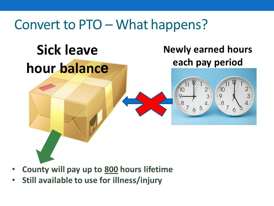 Convert to PTO – What happens.