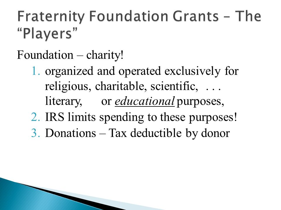 Foundation – charity.