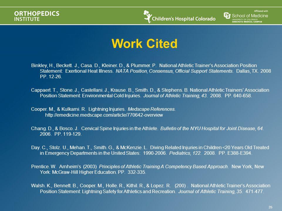 Work Cited Binkley, H., Beckett. J., Casa. D., Kleiner.