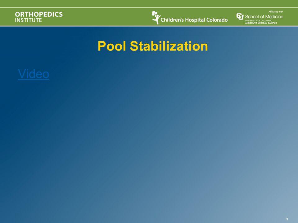 Pool Stabilization Video 9