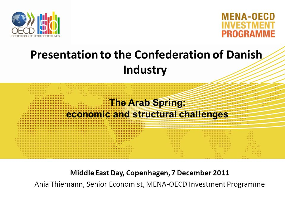 Presentation outline Macro-economic outlook Structural challenges The way forward 3
