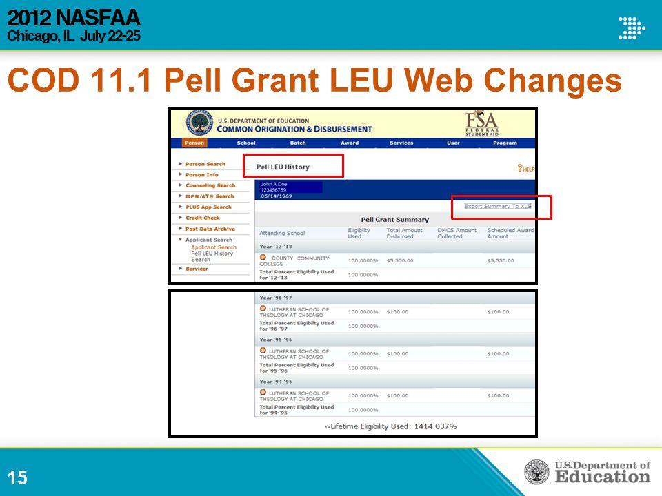 15 COD 11.1 Pell Grant LEU Web Changes