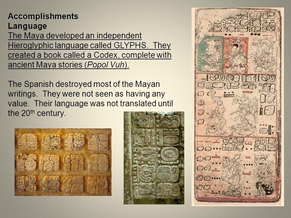 Aztec Math Aztec Writing