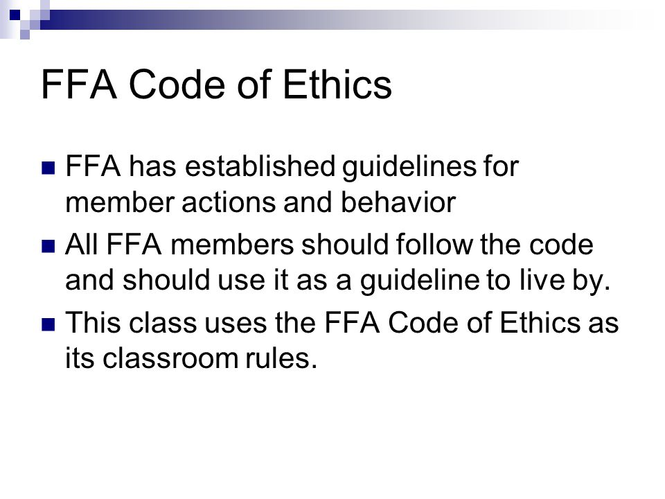 The FFA Motto Learning to Do Doing to Learn Earning to Live Living to Serve