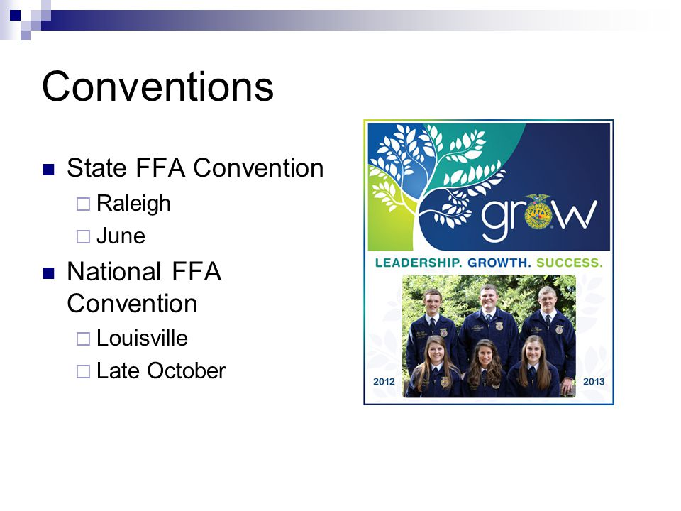 Career Development Events Individual or team competitions covering several subjects in agriculture and leadership Examples  Parliamentary Procedure 