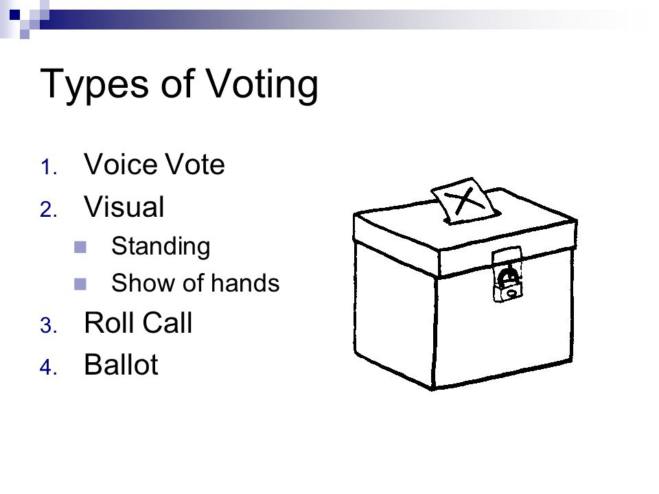 """Steps in making a Main Motion 1. Address the presiding officer 2. Receive recognition 3. State the motion 4. Obtain a """"second"""" 5. Discussion 6. Vote 7"""