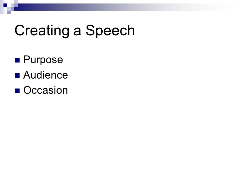 Building a Speech Introduction Body Conclusion