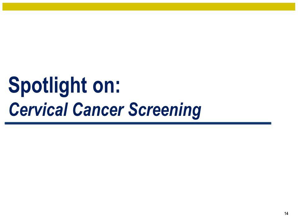Spotlight on: Cervical Cancer Screening 14