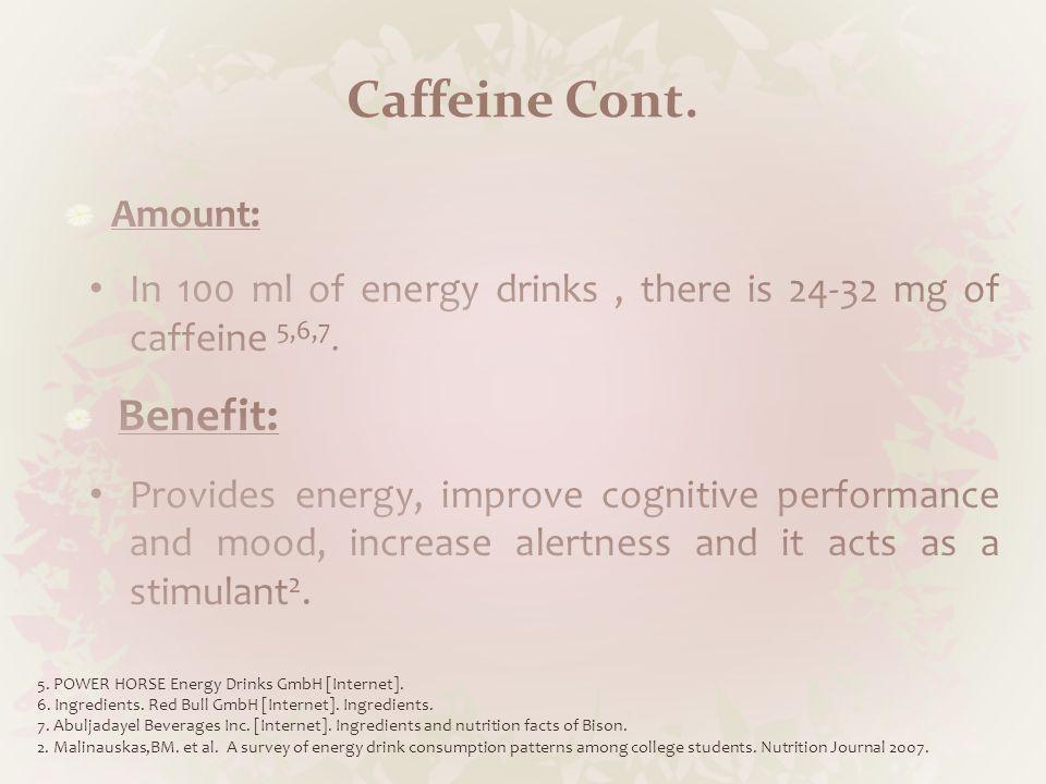 Caffeine Cont.8.Leson, CL; McGuigan, MA; Bryson, SM.