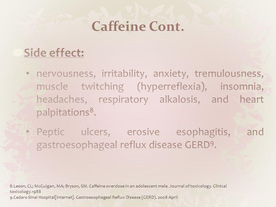 Caffeine Cont.