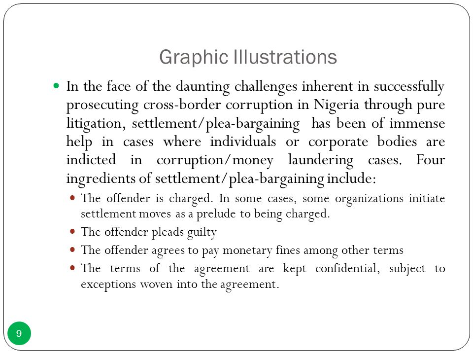 Graphic Illustrations In the face of the daunting challenges inherent in successfully prosecuting cross-border corruption in Nigeria through pure liti