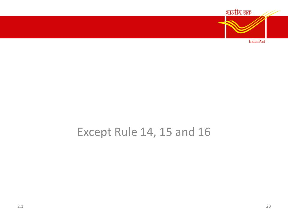 Rule 11 to 31 of CCS CCA Rule Except Rule 14, 15 and 16 282.1