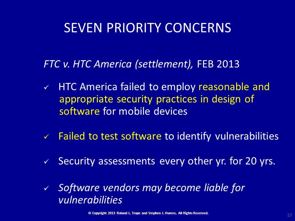 SEVEN PRIORITY CONCERNS FTC v.