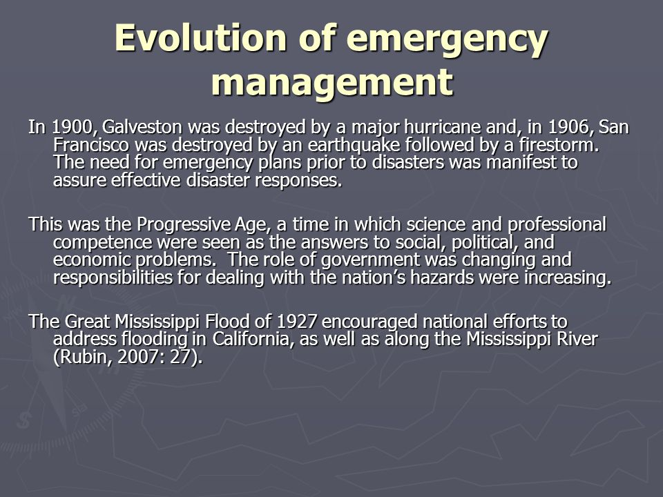 Evolution of emergency management Poor planning, poor execution, and poor leadership were the principal criticisms in after-action reports issued by the White House, the State of Louisiana (in collaboration with the Department of Homeland Security), and other agencies.