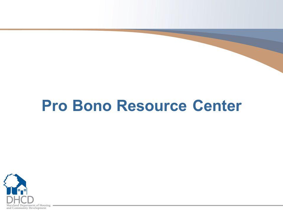 Pro Bono Resource Center