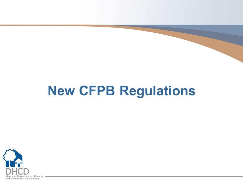 New CFPB Regulations