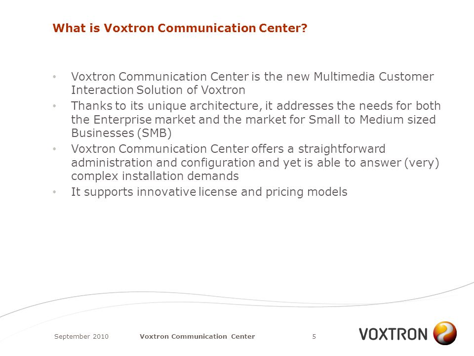 What is Voxtron Communication Center.
