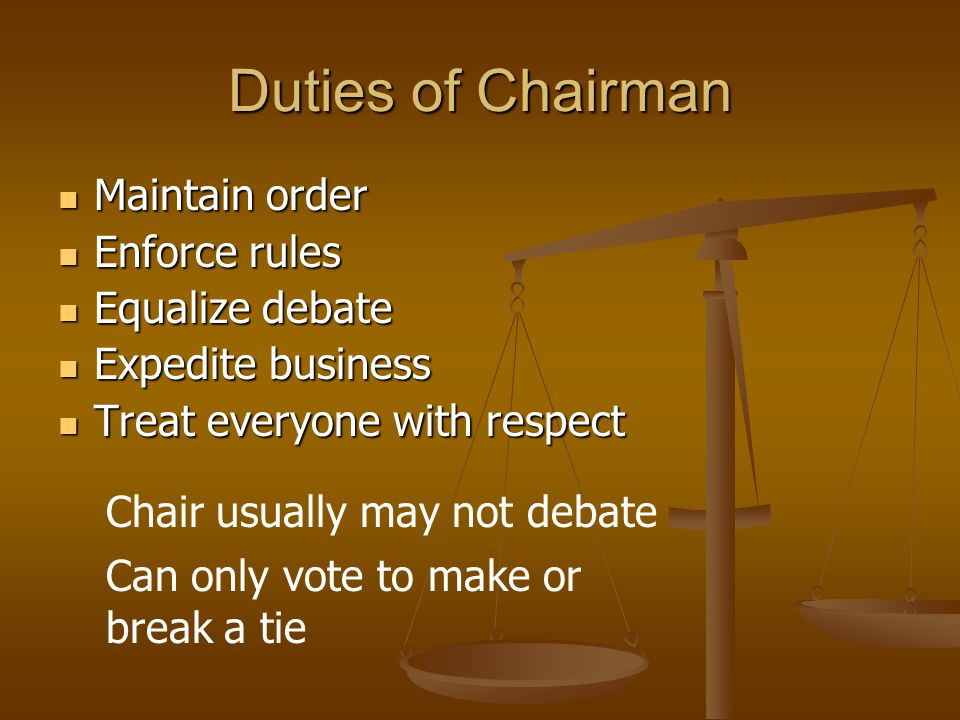 Parliamentary Inquiry (con't) Chairman or parliamentarian explains proper procedure Chairman or parliamentarian explains proper procedure Example: Example: Mr.