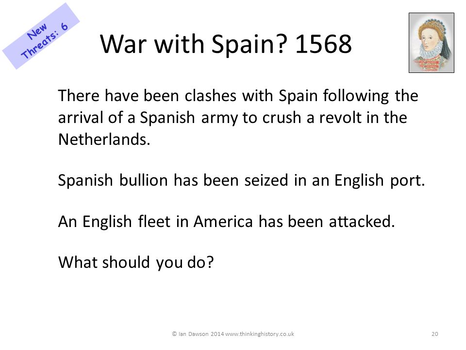 War with Spain.