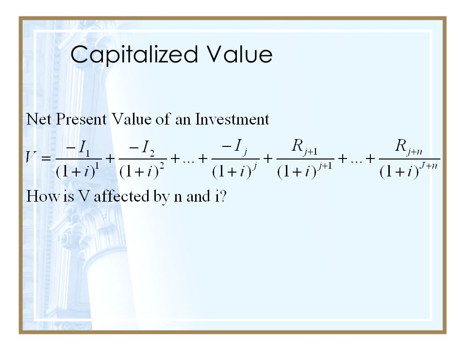Capitalized Value