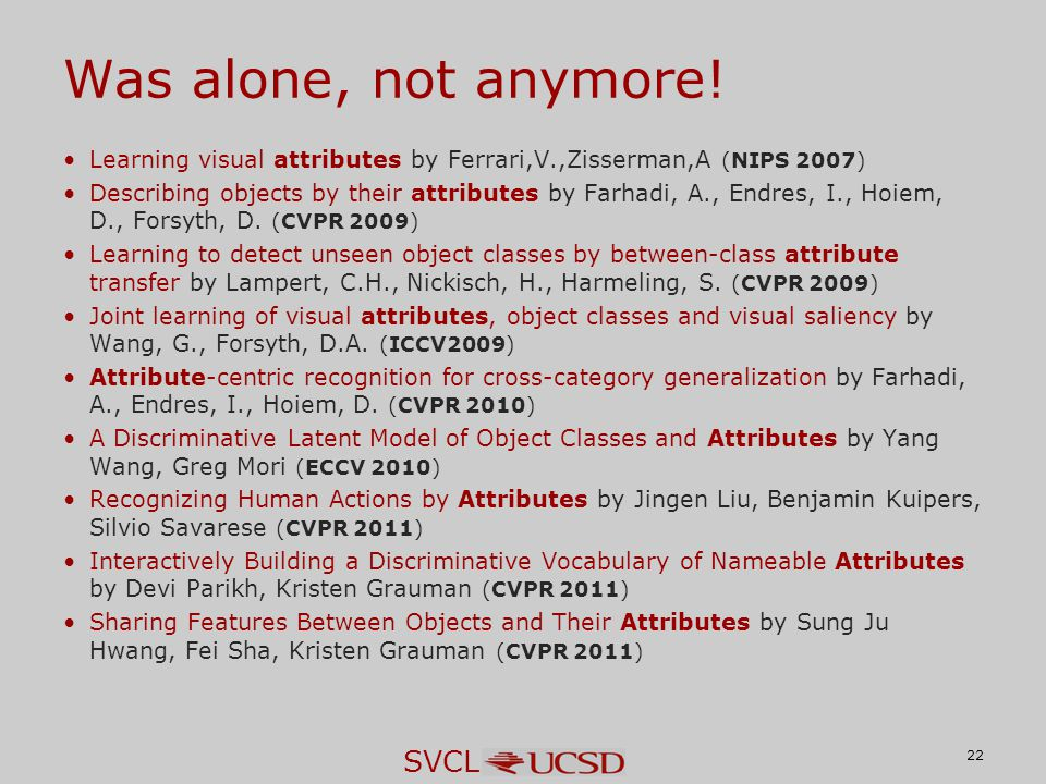 SVCL Was alone, not anymore.