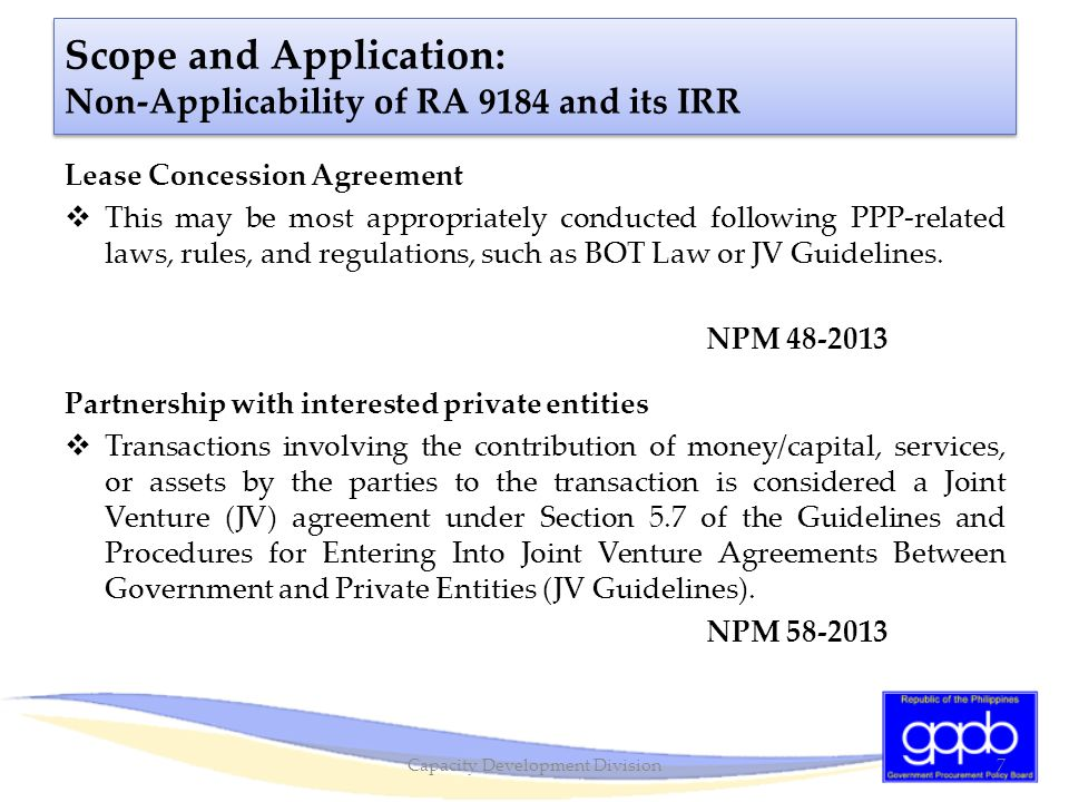 Bidding Documents: Single Largest and Completed Contract (SLCC)  IRR does not give the PE the option to adopt a different criterion for eligibility.