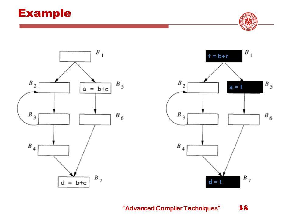 Example t = b+c a = t d = t 38