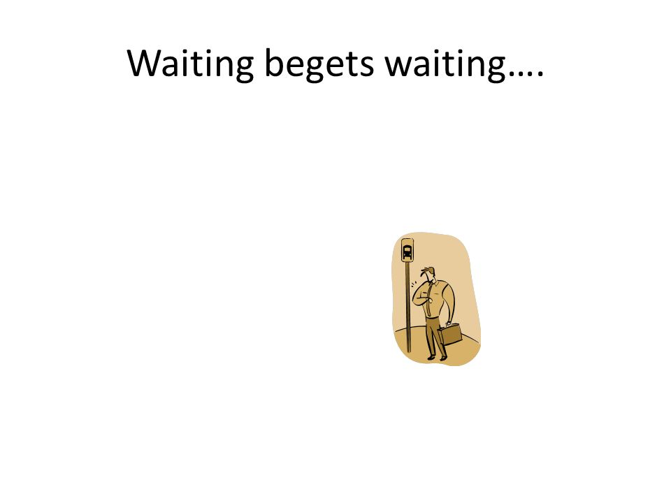Waiting begets waiting….