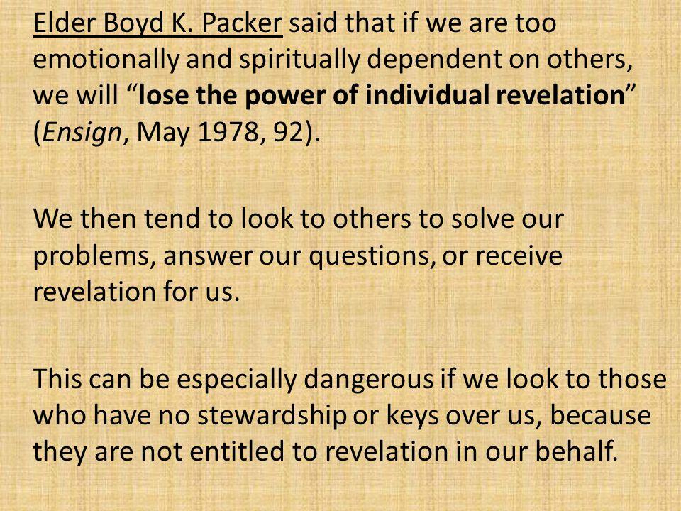 Elder Boyd K.