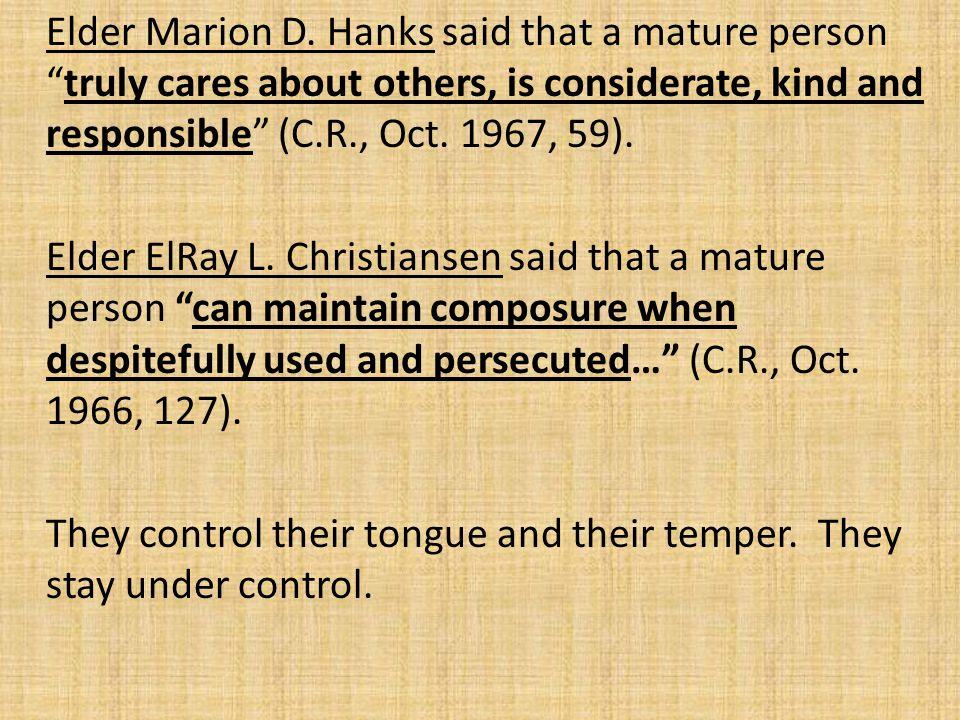 Elder Marion D.