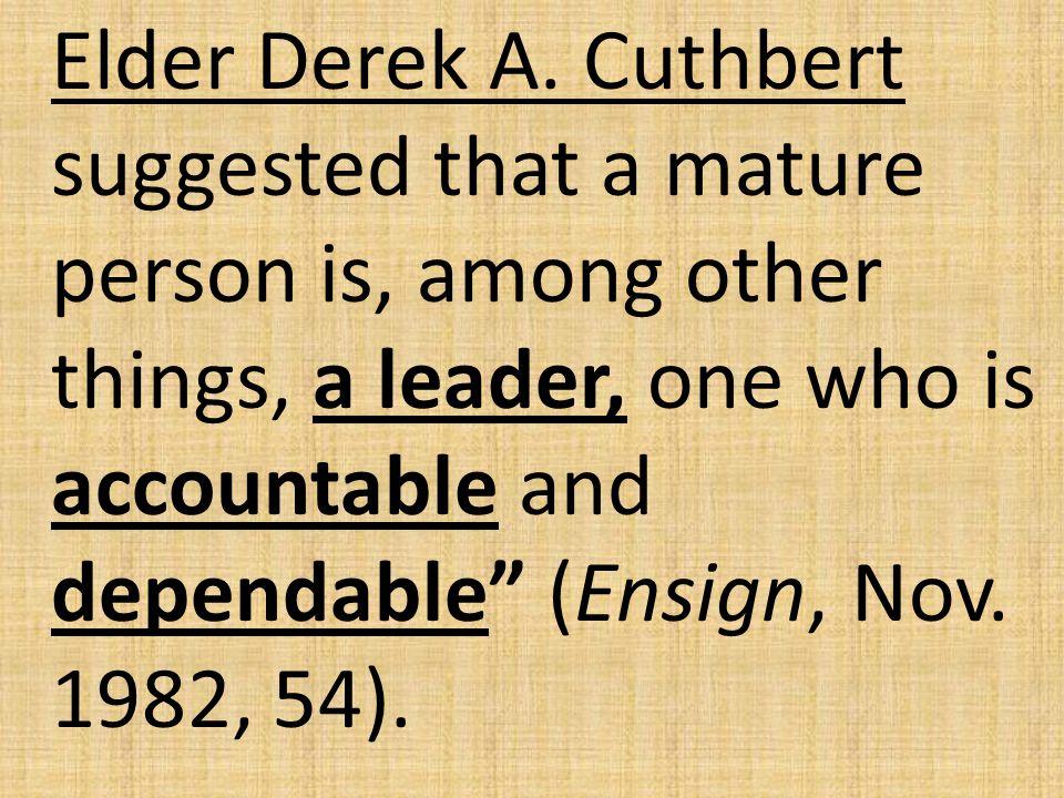 Elder Derek A.