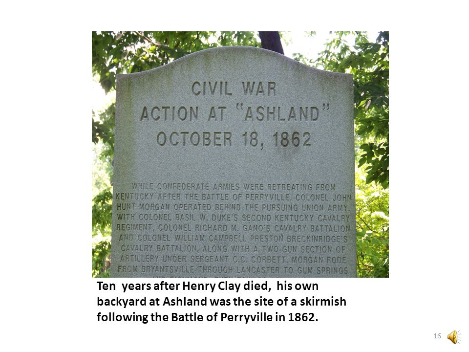 The monument was erected to commemorate a skirmish that occurred here following Kentucky's largest Civil War battle at Perryville.