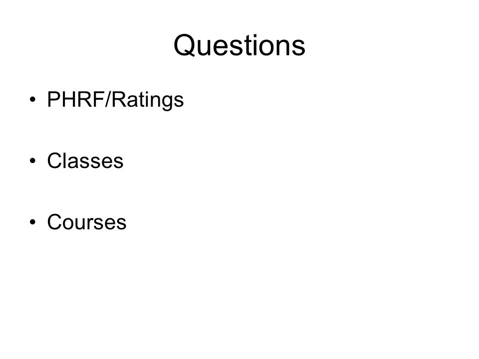 Questions PHRF/Ratings Classes Courses