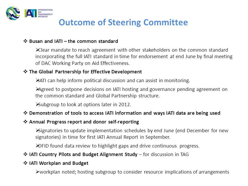 Organisation standardActivity StandardImplementation schedule No.