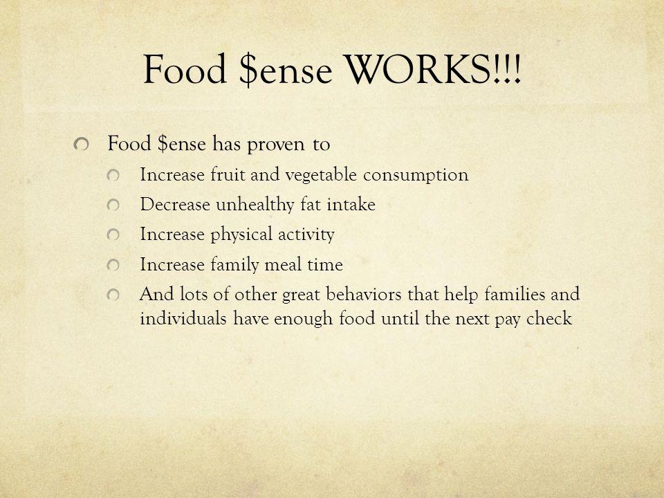 Food $ense WORKS!!.