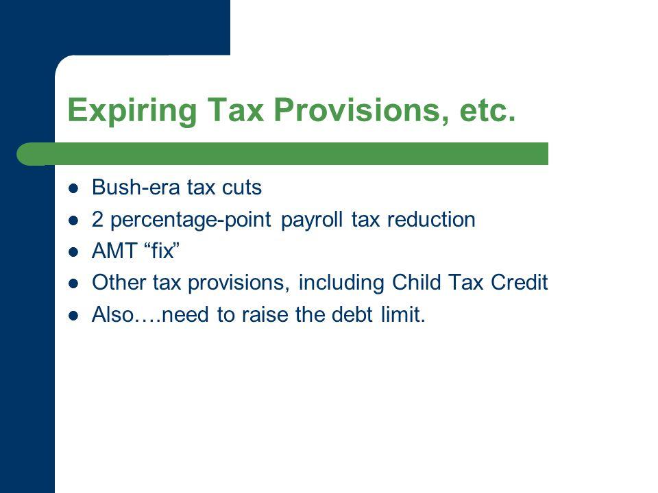 Expiring Tax Provisions, etc.