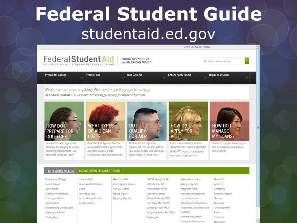 Federal Student Guide studentaid.ed.gov