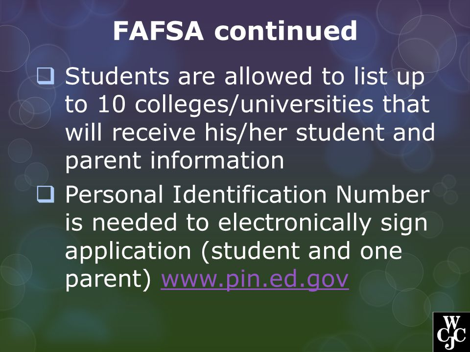 FAFSA continued Determining Dependency  Born before January 1, 1992.